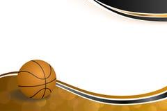 Ilustração preta alaranjada abstrata da bola do basquetebol do esporte do fundo Fotografia de Stock Royalty Free