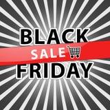 Ilustração preta da venda de sexta-feira foto de stock