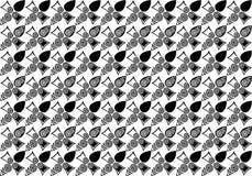Ilustração preta do teste padrão de flor branca Fotos de Stock Royalty Free
