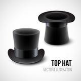 Ilustração preta do vetor do chapéu alto sobre ilustração royalty free