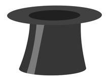 Ilustração preta retro mágica do chapéu do cilindro isolada Fotografia de Stock Royalty Free