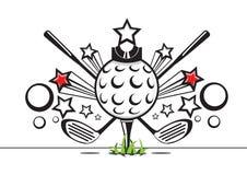 Ilustração preto e branco do golfe Ilustração Royalty Free