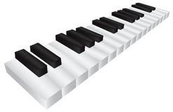 Ilustração preto e branco do teclado 3D do piano Foto de Stock Royalty Free