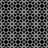 Ilustração preto e branco do vetor do teste padrão islâmico sem emenda ilustração stock