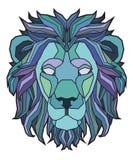 A ilustração principal do leão Imagem de Stock Royalty Free