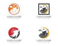 Ilustração principal do vetor do projeto do logotipo do lobo ilustração royalty free