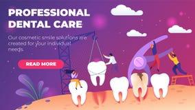 Ilustração profissional do vetor dos cuidados dentários ilustração stock