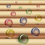 Bolas coloridas translúcidas que caem para baixo as escadas Fotos de Stock