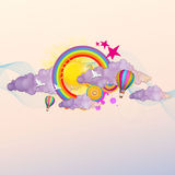 Ilustração psicadélico colorida do vetor do fundo Fotos de Stock