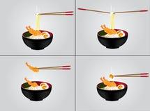 Ilustração quente do fundo do macarronete Imagens de Stock Royalty Free