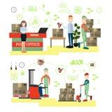 Ilustração rápida do vetor do conceito da entrega no estilo liso Fotos de Stock