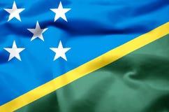 Ilustração realística da bandeira das ilhas de Salomon ilustração royalty free