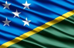 Ilustração realística da bandeira das ilhas de Salomon ilustração do vetor