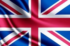 Ilustração realística da bandeira de Reino Unido ilustração do vetor