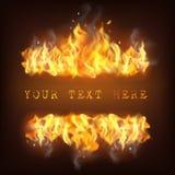 Ilustração realística da chama do fogo Foto de Stock Royalty Free