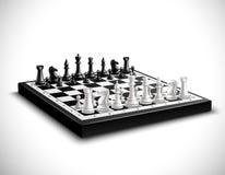 Ilustração realística da placa de xadrez ilustração royalty free
