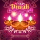 Ilustração realística de Diwali ilustração stock