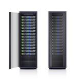 Ilustração realística de duas cremalheiras pretas do servidor Fotos de Stock