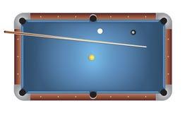 Ilustração realística de feltro do azul da mesa de bilhar dos bilhar Fotos de Stock