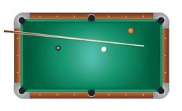 Ilustração realística de feltro do verde da mesa de bilhar dos bilhar Imagem de Stock