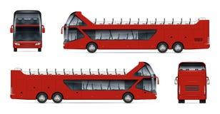 Ilustração realística do ônibus do curso ilustração stock