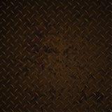 Ilustração realística do gráfico de vetor de Diamond Plate Rusty Distressed Corroded Imagem de Stock