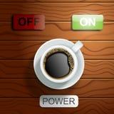 Ilustração realística do vetor do conceito do poder do café ilustração do vetor