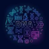 Ilustração redonda colorida ou símbolo do ADN do vetor Fotos de Stock