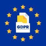 Ilustração regulamentar do conceito da proteção de dados geral GDPR - 25 de maio de 2018 Imagens de Stock Royalty Free