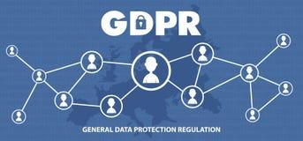 Ilustração regulamentar do conceito da proteção de dados geral GDPR - 25 de maio de 2018 Fotografia de Stock Royalty Free