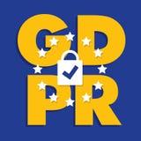 Ilustração regulamentar do conceito da proteção de dados geral GDPR - 25 de maio de 2018 Fotografia de Stock
