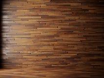 A ilustração rende o interior natural com os painéis de parede de madeira Fotos de Stock Royalty Free