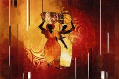 Ilustração retro étnica africana do vintage Foto de Stock