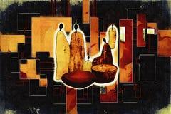 Ilustração retro étnica africana do vintage Imagens de Stock Royalty Free