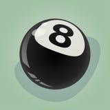 Ilustração retro de oito bolas Fotografia de Stock Royalty Free