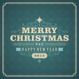 Ilustração retro do cartão do Natal Imagens de Stock Royalty Free