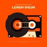 Ilustração retro do cartaz da música do vintage abstrato Imagens de Stock