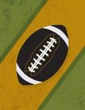 Ilustração retro do fundo do futebol americano do Grunge do vintage ilustração royalty free