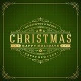 Ilustração retro do vetor do cartão do Natal Fotografia de Stock Royalty Free