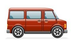 Ilustração retro do vetor do projeto de Van Car Icon Realistic 3d Imagem de Stock