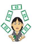 Ilustração rica da mulher de negócios Fotos de Stock