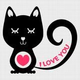 Gato romântico Fotografia de Stock Royalty Free