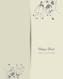 Ilustração romântica do convite do vintage Imagens de Stock Royalty Free
