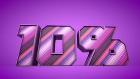 ilustração roxa do texto 3d de 10% Fotografia de Stock Royalty Free