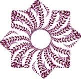 ilustração roxa simples da flor foto de stock