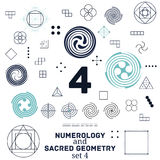 Ilustração sagrado da geometria e do vetor dos símbolos da numerologia Fotos de Stock