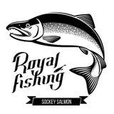 Ilustração Salmon do vetor dos peixes de Sockey Fotografia de Stock