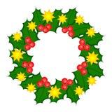 Ilustração santamente do Natal da grinalda. Fotografia de Stock