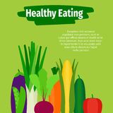 Ilustração saudável comer com vegetais ilustração royalty free
