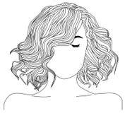 Ilustração saudável do cabelo Fotos de Stock Royalty Free
